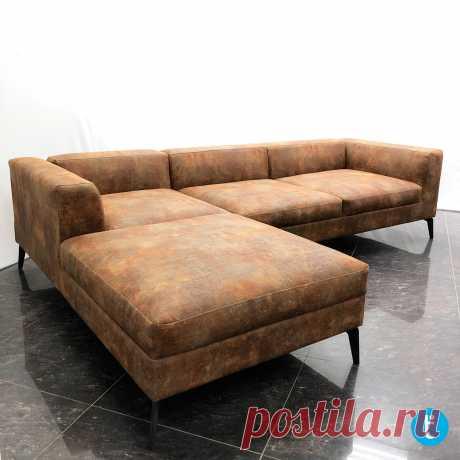 Угловой диван по индивидуальным размерам, в ткани лофт. Выполнен по проекту заказчика  tamamm.ru - еще больше мебели на нашем сайте