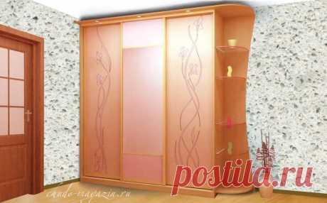 Шкаф купе в детскую комнату для девочки подростка на заказ: фото, цвет, модель.