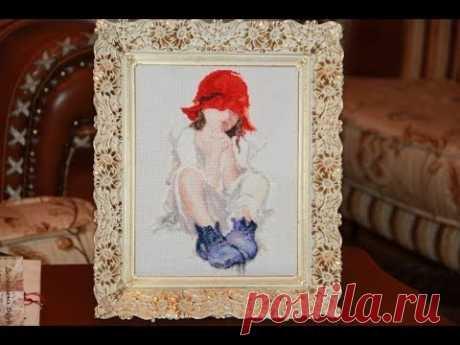 Красивые вышитые картины - мои подарки на день Святого Валентина - YouTube