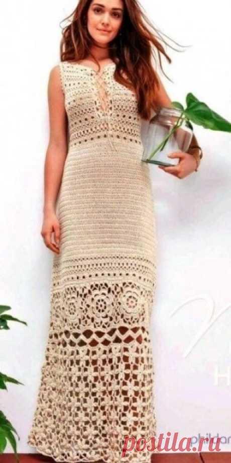 Длинное кружевное летнее платье