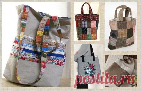 Снова про переделку: шьем сумку-шоппер из того что под-рукой | МНЕ ИНТЕРЕСНО | Яндекс Дзен