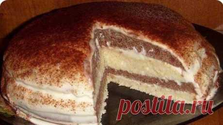 Остался стакан кефира? Рекомендую испечь этот восхитительный и простой тортик! - Кулинарный Гуру Нежный торт на кефире — очень простой и вкусный настолько, что можно...