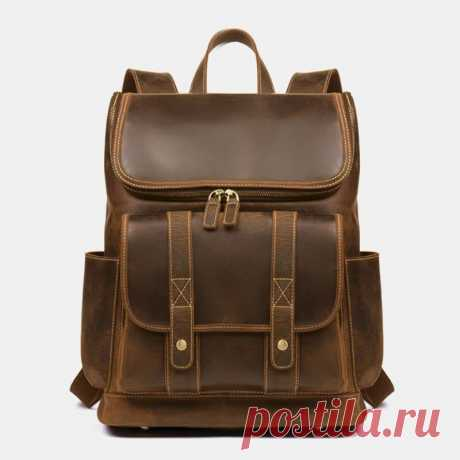 Men Vintage Multi-pocket Anti-theft 15.6 Inch Laptop Backpack - US$72.99