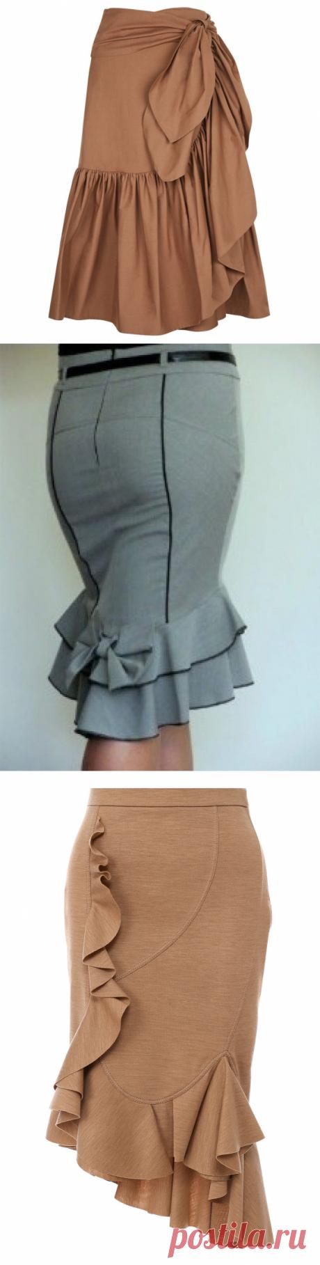 Прямые юбки с воланами: вдохновляющие идеи — DIYIdeas