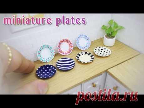 Doll kitchen #09 DIY miniature plates  미니어쳐 접시만들기