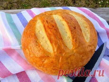 Если остался стакан кефира, побалуйте себя вкусным хлебом! Хлеб на кефире   проще не бывает!