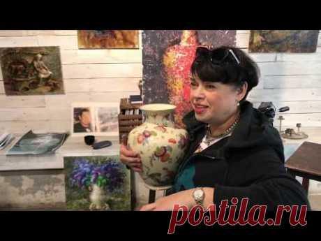 Как нарисовать расписную вазу