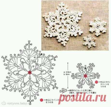 Схемы снежинок — DIYIdeas
