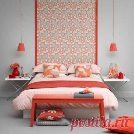 Серо-коралловый цвет в интерьере: фото сочетаний - Ladiesvenue.ru