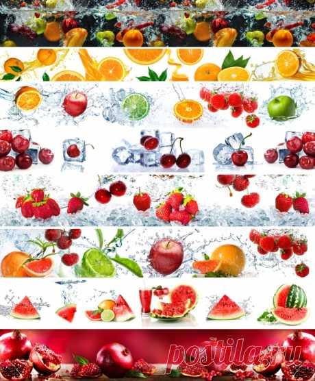 КАТАЛОГ Скинали фрукты и ягоды на кухонный фартук, на сайте www.skinali-plus.com