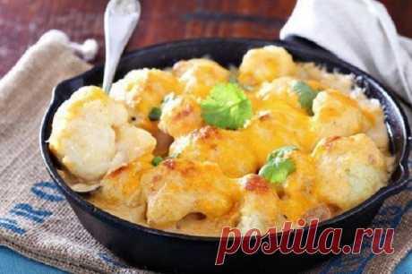 Мое коронное блюдо - Цветная капуста, запеченная в духовке с сырным соусом Вкусно и полезно!