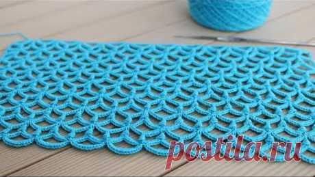 Красивый УЗОР вязание крючком МАСТЕР-КЛАСС  Crochet Pattern