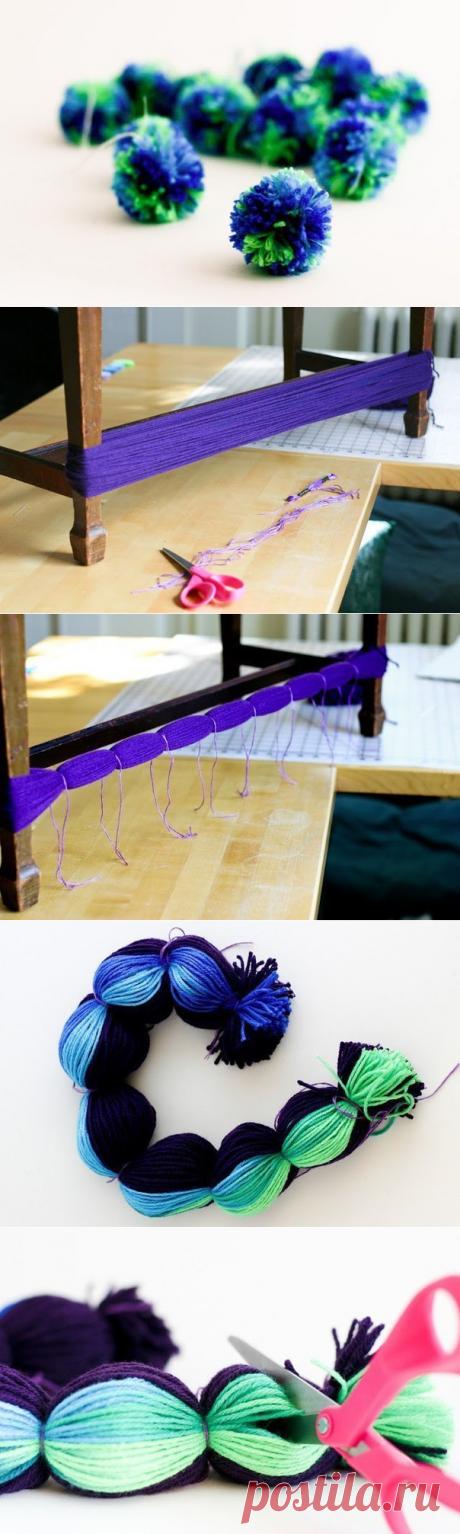 Делаем много-много помпонов одним махом — Сделай сам, идеи для творчества - DIY Ideas