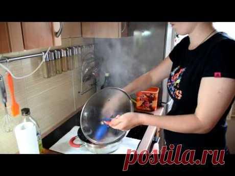 Жарка мяса на индукционной варочной панели(Electrolux EHH6340FOK)