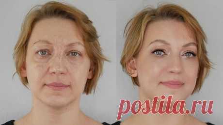 Как сделать макияж с лифтинг-эффектом после 50, 60 и 70 лет (видео)   Умная и красивая: 45+   Яндекс Дзен