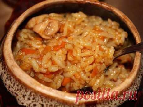Горшочек с курицей и рисом. Порадуйте своих близких, этой вкусняшкой!