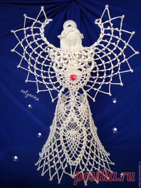 Ангел Летиция – купить в интернет-магазине на Ярмарке Мастеров с доставкой Ангел Летиция - купить или заказать в интернет-магазине на Ярмарке Мастеров | Очень нежный, ажурный ангел.Замечательный подарок…