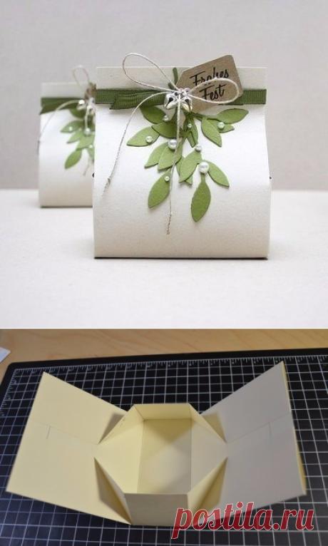 Подарочная упаковка-пакет — Сделай сам, идеи для творчества - DIY Ideas