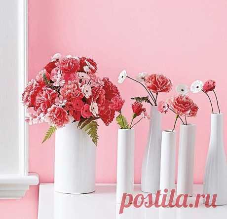 Las flores hermosas del papel