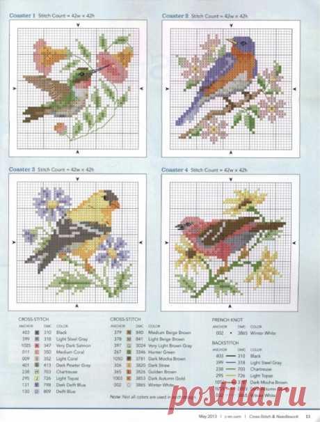 Летние мотивы: птички