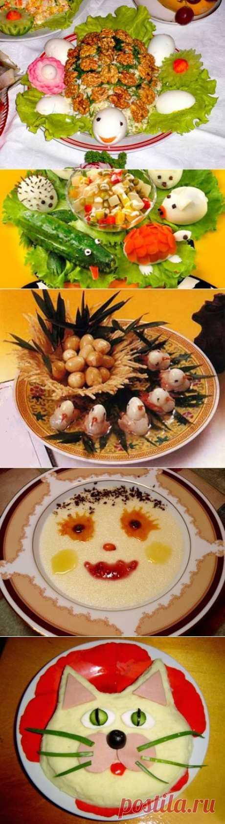 Украшение детских блюд.   Лакомка