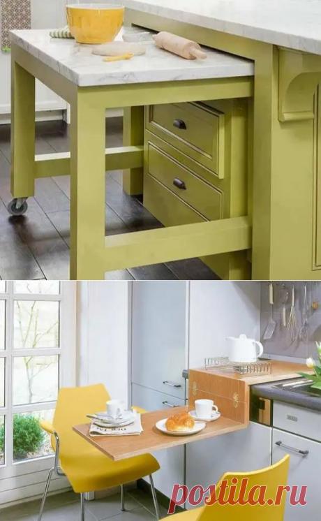 18 стильных столов, которые эффективно оптимизируют пространство маленькой кухни - Уголок хозяйки - медиаплатформа МирТесен