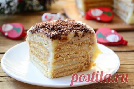 Торт из печенья без выпечки / Простые рецепты