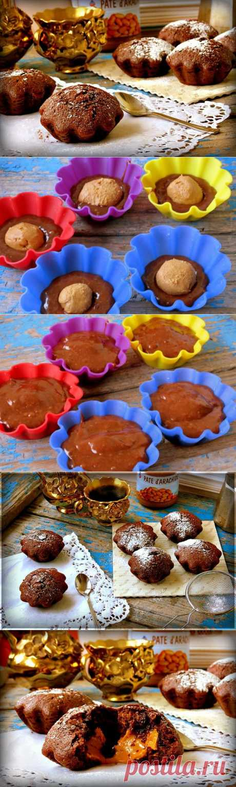 (350) Chocolate cakes with peanut paste - the step-by-step recipe with a photo - chocolate cakes with peanut paste - how to prepare: ingredients, structure, a preparation time - Ledi@mail.Ru