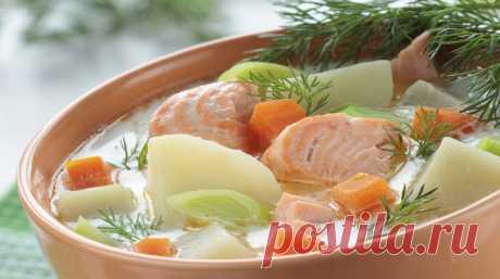 Очень вкусная уха с семгой - saitkulinarii.info