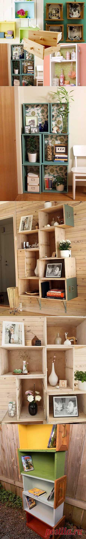 Ящики от старых комодов, тумбочек и шкафов можно и нужно использовать!  Ящики от старых шкафов в интерьере (подборка) / Мебель /
