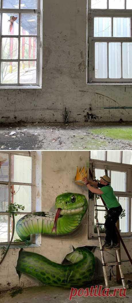Француз делает стены живыми