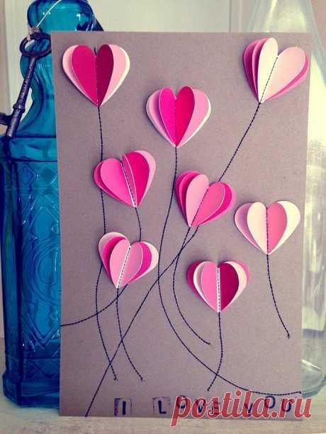 Как сделать красивые валентинки своими руками