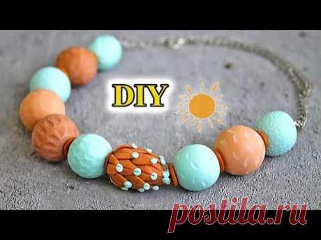 DIY: Бусы своими руками* Полимерная глина* Polymer clay necklace* 聚合物粘土項鍊