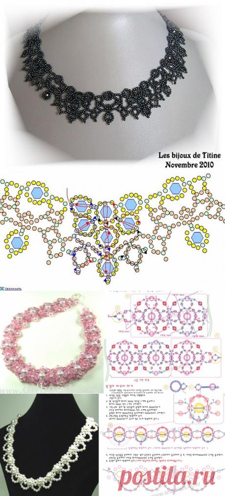 Восхитительные ожерелья со схемами — Сделай сам, идеи для творчества - DIY Ideas