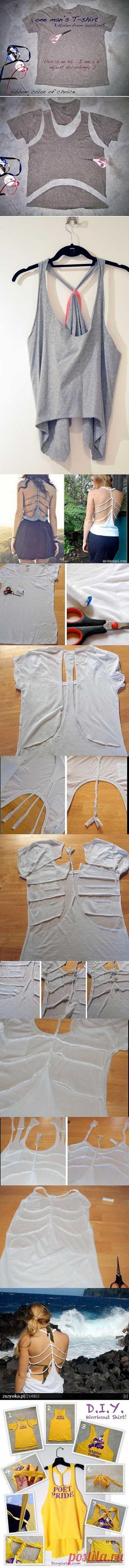 Готовимся к лету: старая футболка превращается… | MixStuff