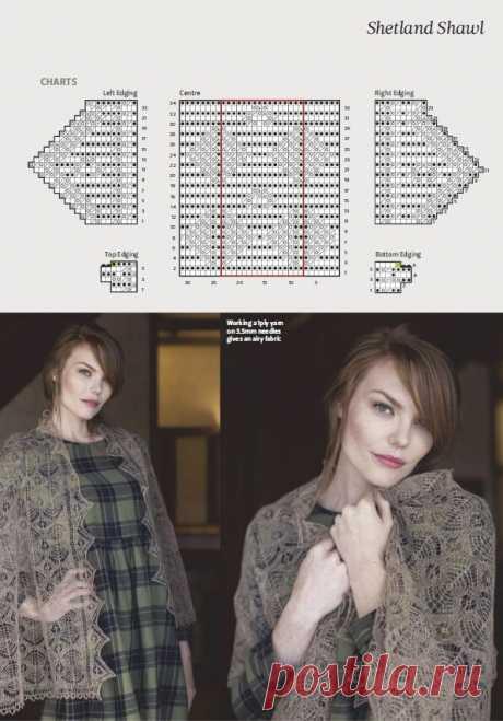 Ажурные шали и палантин спицами. 5 новых идей со схемами и описанием | Магия вязания | Яндекс Дзен