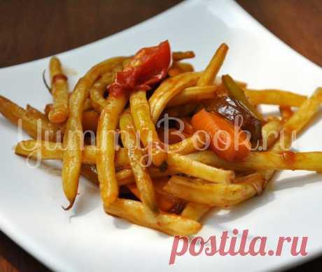 (+1) - Sparzhevaya la judía con hortalizas | las recetas Queridas