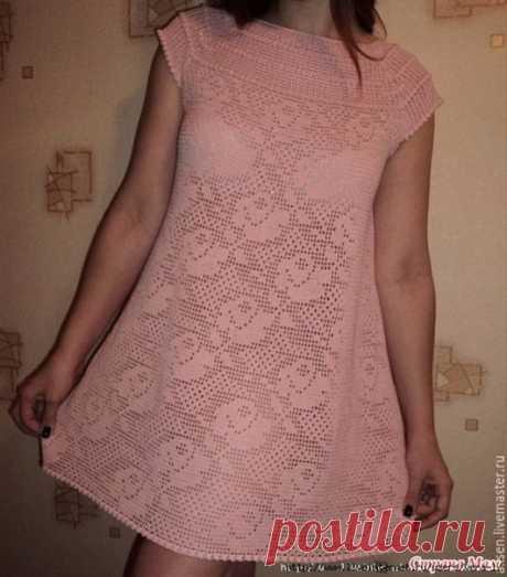 Здравствуйте! Кто - нибудь вязал такое платье?  #Филейное_вязание_крючком_вопрос