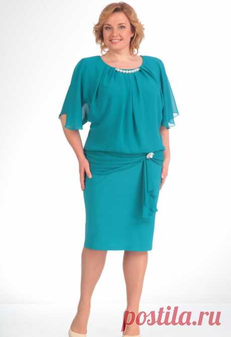 Платье, Pretty, 154 бирюзовый Купить онлайн Дама бай