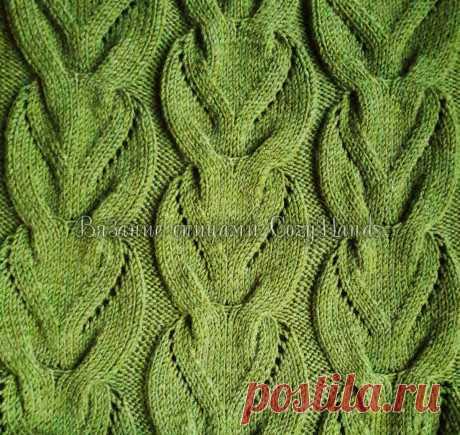 Ажурная коса для любителей свитеров с объемными узорами   Вязание спицами CozyHands   Яндекс Дзен