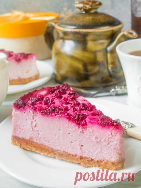 Рецепт малинового чизкейка на Вкусном Блоге