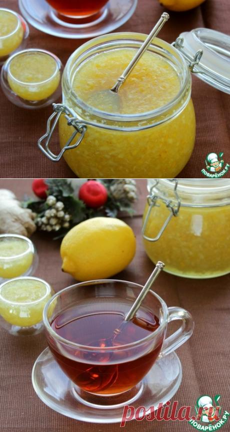 """Лимонно-имбирная смесь """"Здоровье"""" – кулинарный рецепт"""
