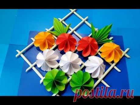 ПОДАРОК СВОИМИ РУКАМИ/украшение на стену декоративный мастер-класс Цветы бумаги/DIY Mother's Day