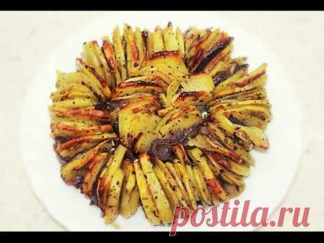 Хрустящая картошечка в духовке - просто объедение!