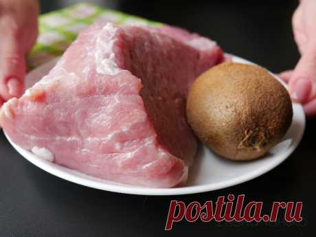 Когда хочу удивить гостей — готовлю свинину с киви: божественный вкус и нежнейшее мясо | Кухня без границ Елены Танько | Яндекс Дзен