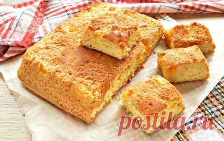 Быстрый бисквитный пирог с мандаринами - рецепт с фото пошагово