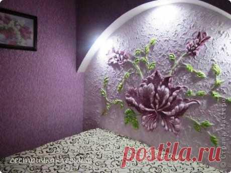 Волшебный цветок на стене из штукатурки! | ЖЕНСКИЙ МИР