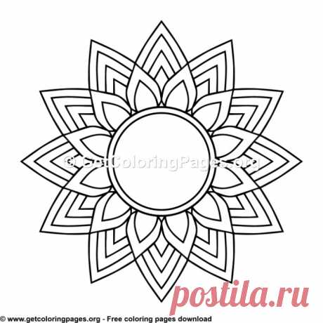 Ethic Style Mandala 9 Coloring Pages – GetColoringPages.org