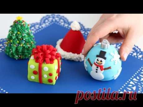 Mini CHRISTMAS CAKES! Cutest Cakes EVERRR!