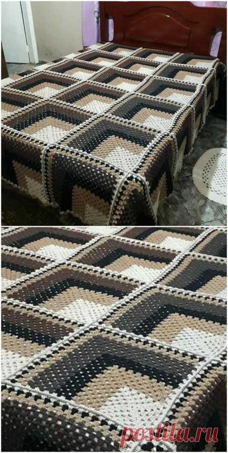 Удивительный 3D одеяло крючком - ремесленные идеи